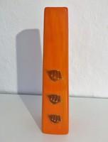 Narancssárga, levélmintás váza