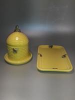 Hummel Goebel porcelán méz tartó pirítós kínáló tálcával