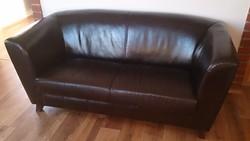BŐR Andante 3as KANAPÉ - újszerű, nagyon szép, gaucho igazi marhabőr, LongLife leather