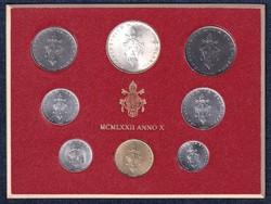 Vatikán VI. Pál forgalmi sor MCMLXXII Anno X 1972 (id40604)