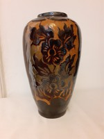 Nagy méretű korondi váza, Lőrincz János fazekas munka, 1982