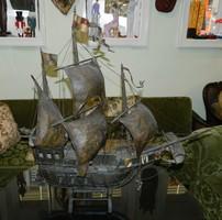 IGAZI KURIÓZUM 1800-as évek Santa Maria nagyméretű fából készült hajó modell