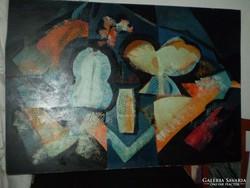 Daróczi Ágnes: Csendélet  c. Képcsarnokos festménye.90x60cm 7.
