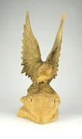 1C590 Faragott sas szobor sas fafaragás 28.5 cm