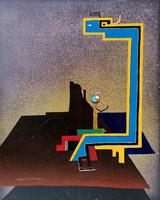 Robert Draper (1938-2000).. Szürreális táj....