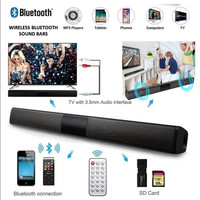 Vezeték nélküli Bluetooth Soundbar hangszóró TV házimozi Soundbar távirányítóval, FM rádiós, Új