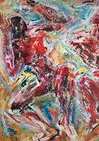 Id. Keleti Jenő 1976 olaj festménye