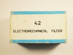Retro papír doboz - 42 Electromechanical filter - Honvédség katonai 1979