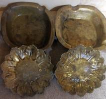 4 db tömör bronz hamutartó