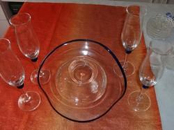 Bólés tál  négy pohárral eladó