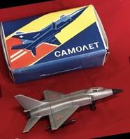 Szovjet műanyag játék repülő dobozában