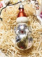 Régi retro antik űveg karácsonyfadísz ,hóember
