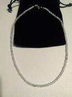 Csodaszép fazetált akvamarin nyaklánc