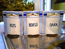 3 db Antik porcelánfajansz  konyhai tartó 1000 Ft/ db