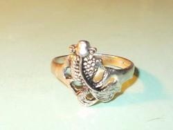 Aranyhal - 3 Kívánság Régi Tibeti ezüst uniszex Gyűrű 8-as