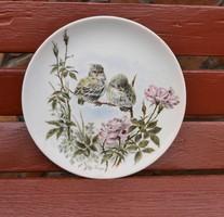 Gyönyörű madaras Kaiser 20 cm-es  falitányér, tányér, gyűjtői tányér