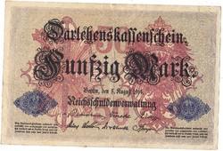 Német 50 márka 1914
