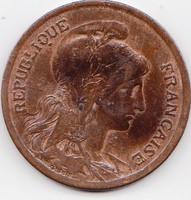 Franciaország forgalmi pénzérme 1917