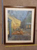 Van Gogh: Le café, le soir, elviselhető, üvegezett keretben, nyomat