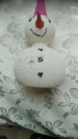RÉGI  hóember   karácsonyfa dísz 12 cm