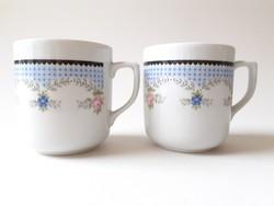 Régi Royal Dux Bohemia porcelán rózsás bögre 2 db