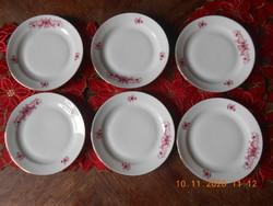 Zsolnay porcelán süteményes tányérok 6 db