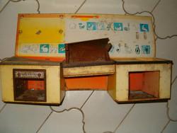 Konyhai tűzhely sütés játék retró kb 1980 ból régi gyerek NDK talán trafik áru KIÁRUSÍTÁS 1 forint