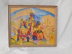 Alekszandr Vasziljevics Kuprin csodás absztrakt festménye. Moszkva