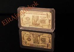 Amerikai dollárok - aranyozott tömb gyűjtemény