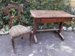 Biedermeier íróasztal + szék.