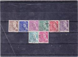 Franciaország forgalmi bélyegek 1938