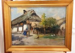 NEOGRÁDY ANTAL  1861 - 1942- Parasztudvar-