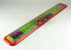 1C135 Régi lemezárugyári vasúti játék rakodó vonat