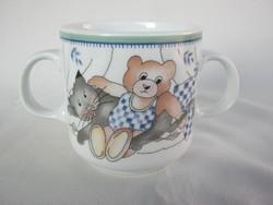Alföldi porcelán macis cicás mese gyerek bögre két füllel