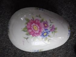 Hollóházi porcelán tojás alakú ékszertartó doboz