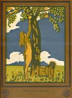 Borszéky Frigyes:A tudás fája, linómetszet,(Művészház Mappa, 1911)
