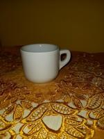 Régi zsolnay natur sima fehér kis csésze 100ml
