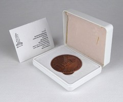 1C755 A Dugonics Társaság centenáriumi bronz plakettje díszdobozban
