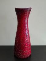 Zsolnay repesztett ökörvérmázas váza