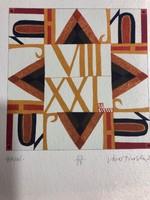 """""""HAJNI"""" Jávor Piroska (1944 - ) szita , kézzel merített vastag papírra , készült 2008 Szentendrén"""