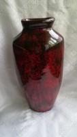 Iparművészeti szignált kerámia váza