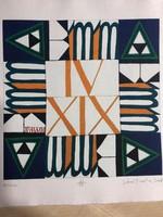 """""""EMMA"""" Jávor Piroska (1944 - ) szita , kézzel merített vastag papírra , készült 2008 Szentendrén"""