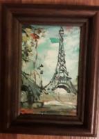 Szignált mini festmény