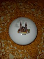 Aquincum Szeged felíratú városképes bonbonier