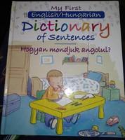 Dictionary of sentences, gyerek képes angol szótár, ajánljon!