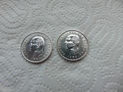 Görögország 2 darab ezüst 20 drachma 1960  2 x 7.5 gramm