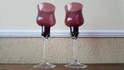 Üveg mécsestartó poharak, 2db