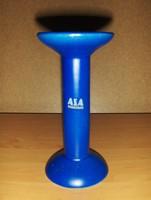 Kék kerámia gyertyatartó 16,5 cm (12/d)