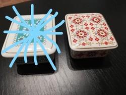 Hollóházi retro porcelán doboz