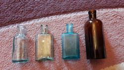 Színes üvegek 4db